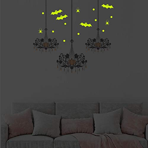edermaus Kronleuchter Nachtlicht Wand Paste Glasfenster Hause Dekorative Wand Paste ()