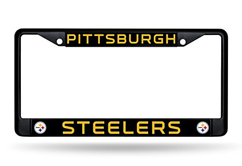 Pittsburgh Frame License Plate (NFL Team Chrom Rahmen, Herren, Pittsburgh Steelers)