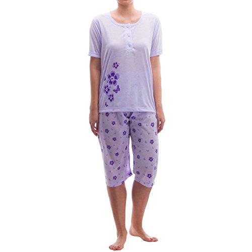 Lucky capri avec imprimée-range pyjama Violet - Lilas