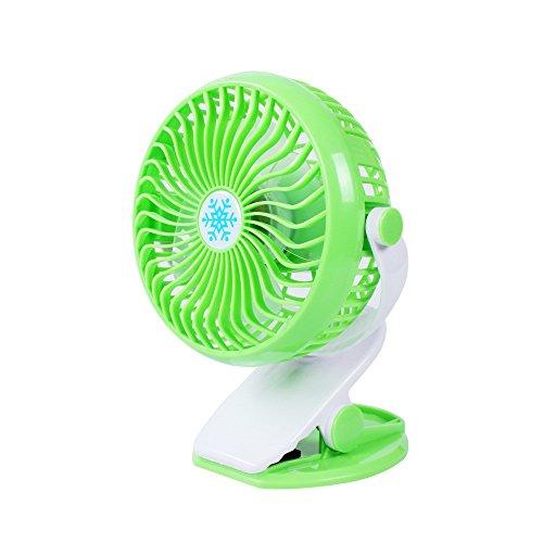 Vovotrade Schreibtisch Ventilator Mini Lüfter USB Tischventilator Tragbarer Ventilatoren 360° Drehung für Haus Büro Schlafzimmer und Mehr