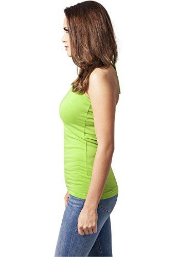 Urban Classics Ladies Neckholder Shirt, Débardeur Femme limegreen