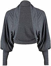 Purple Hanger - Veste Cardigan Manche Chauve Souris Avant Sans Fermeture Boléro Maille Court Cardigan Haut pour Femme