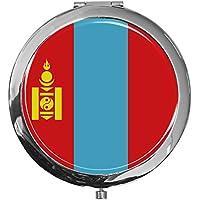 "metALUm - Extragroße Pillendose in runder Form""Flagge Mongolei"" preisvergleich bei billige-tabletten.eu"