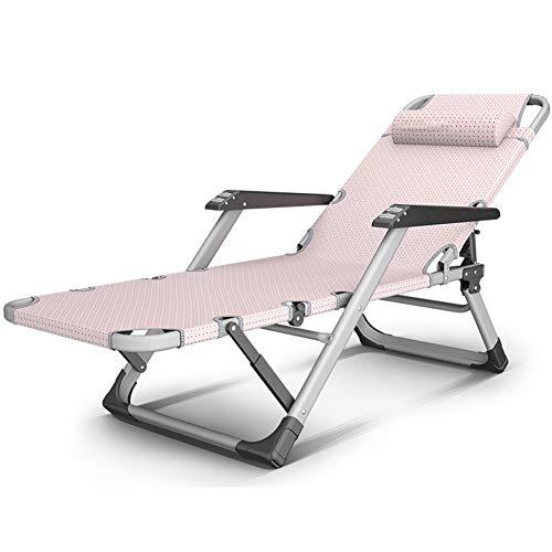 HYDT Liegende Lounge Klappbarer Schwerelosigkeits-Patio-Lounge-Sessel mit Massage-Handläufen, tragbare quadratische Schwerlast-Beine, die Stühle für Büro-Patio stützen (Farbe : Black and White Grid)