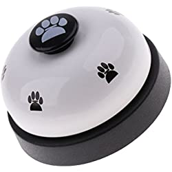 perfk Haustier Trainingsglocke Hunde Tischglocke Hundeglocke für Kommunikation Töpfchen Training - Weiß