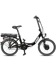 Gregster E-Bike für Damen und Herren | 20 Zoll Elektrofahrrad Klapprad in schwarz | Elektro-Faltrad ist der ideale Begleiter auf Reisen
