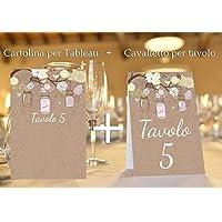 Tableau de mariage matrimonio - shabby chic nozze vari modelli disponibili set cartolina + cavalletto tavolo