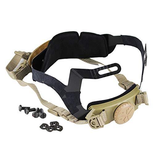 NICEWL 1 Stücke Verstellbarer Gurt Taktischer Helm Zubehör-Helm Kopf Verriegelung Schnalle Airsoft Jagd Klettern, Outdoor Field Battle Schutz Ausrüstung,MudColor -