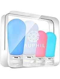 Auphil Silikon Reise Flaschen Set Auslaufsicher - TSA Genehmigt