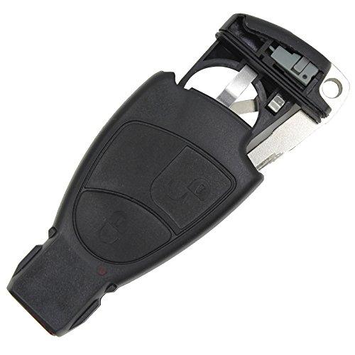 Chiave di ricambio per Mercedes con porta batteria, chiave non tagliata, per accesso remoto senza chiave