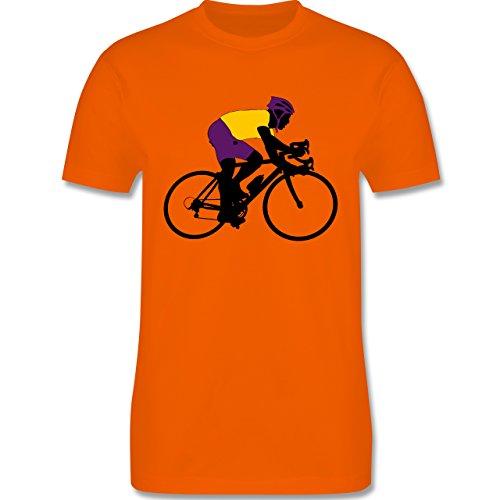 Radsport - Rennrad Triathlon - Herren Premium T-Shirt Orange