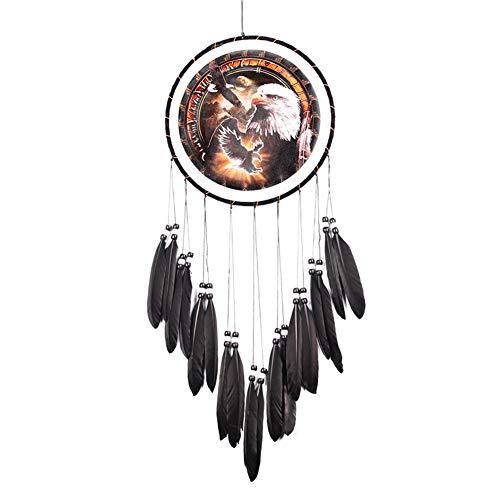 Juan bohorquez Wanddekoration Adler Ölgemälde Schwarz Feder Traumfänger Hause Hängen Ornamente Wandbehänge Wohnzimmer Shop Bar Outdoor Garten Zubehör Dekoration -