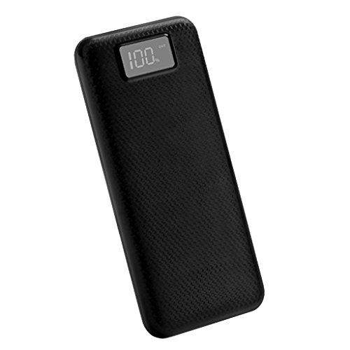Blesiya 2 USB Porte 8x18650 Batteria 20000mAh Caricatore Portatile Batteria Esterna Scheda Pannello - Nero