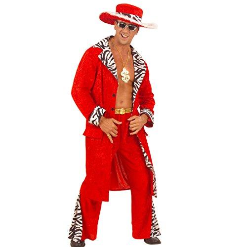 ostüm Pimp Gangsterkostüm S 48 Rapper Herrenkostüm Proll Zuhälterkostüm Gangster Anzug Fasching Playboy Faschingskostüm Karnevalskostüme Erwachsene ()