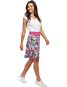 Tom Tailor für Frauen Skirt gemusterter Jersey-Rock cornflower pink 02 42