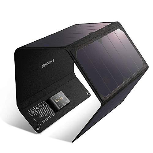 RAVPower Solar Ladegerät 28W Wasserdicht Solarpanel USB