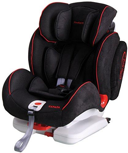 Mondial Safe Canada Isofix 1 KS02 - Silla de bebé para automóvil, color negro con ribete rojo