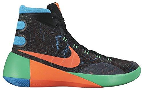 Nike Herren Hyperdunk 2015 PRM Basketballschuhe Schwarz/Orange/Blau/Grün (Blck/Hypr Orng-Bl LGN-Grn shck) 44.5 EU