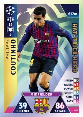 Match Attax Champion League 18/19 18/19 18/19 Philippe Coutoinho Hat Trick Hero Carte à échanger – F.C. Barcelona 18/19 B07MG7C1CF 731c31