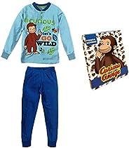 Sabor Pigiama Bambino Estivo Curioso Come George, Pigiama Bambino in Cotone, Pigiama Bambino Lungo Disney Marv