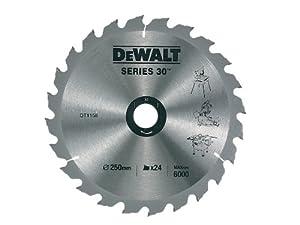 DeWalt DT1158QZ 250 x 30mm x 24-Tooth Construction Circular Saw Blade