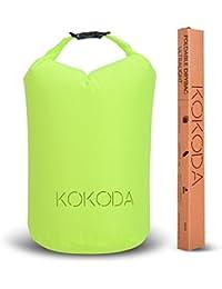 Kokoda Drybag leicht – 10 l, Tasche wasserdicht, Beutel wasserfest für Outdoor, Sport, Reisen, Boot, Schwimmen, Angeln