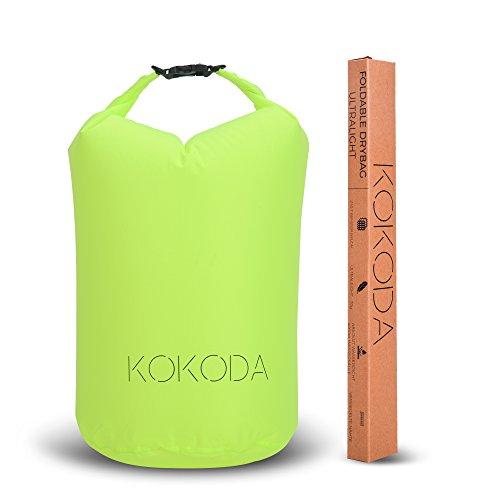 KOKODA Drybag leicht – 15 l, Outdoor Packsack wasserdicht, wasserfeste Beutel-Tasche für Wertsachen, Dokumente, Kleidung