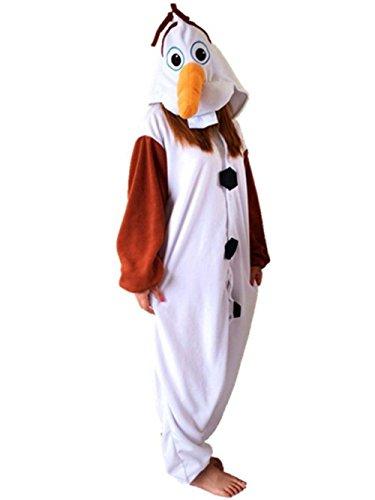 Erwachsene olaf Pyjamas Tierkostüm Cosplay Strampler Halloween Geschenk (Kostüm Frauen Für Olaf Halloween)