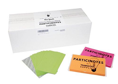Vorratspack! Profi Neon Super Sticky Notes Set - Haftnotizen für Gruppenarbeit 127 x 76mm Ideal für Training, Coaching und Scrum Retrospektive 7200 Haftnotizen in Rot Grün Orange PARTICINOTES -