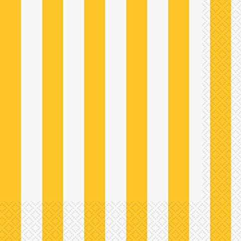 Lunch Napkins Yellow - 16 Pack