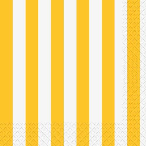 unique-party-lot-de-16-serviettes-en-papier-jaune