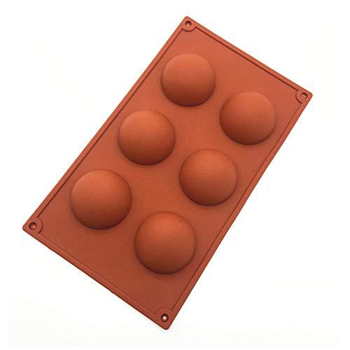 Cake Stencils Kuchen Schablonen, 6-Fach-HeißKanal Silikonform Halbkugel Backform Backformen DIY Schokolade Cupcake Kuchen Schablonen,2Pcs