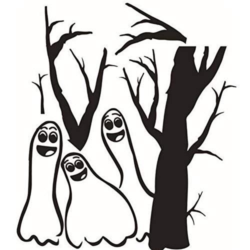 PoeHXtyy Niedliche Halloween-Cartoon Ghost Wall Decal Sticker Art Mural Party Schlafzimmer zu Hause Dekoration