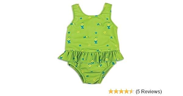Bambinomio Baby Badeanzug mit Schwimmwindel Medium gr/ün