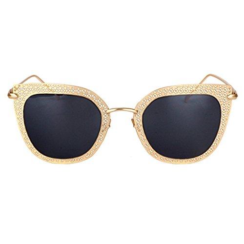 Aoligei Europäische und amerikanische geschnitzt weibliche Sonnenbrille Sonnenbrille mit schmalen Gesicht Exquisite große Rahmen