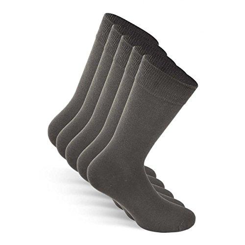 Snocks Socken Herren Grau 43-46 Herrensocken Größe 43 Gr 44 Gr. 45 46 Graue Herren Socken Business Socken Dünne Männer Socken Baumwolle Baumwollsocken Lange Strümpfe Herren Casual Anzug
