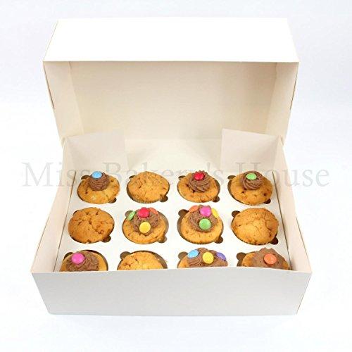Miss Bakery's House® Cupcake Box - 12er - Weiß - 10 Stück