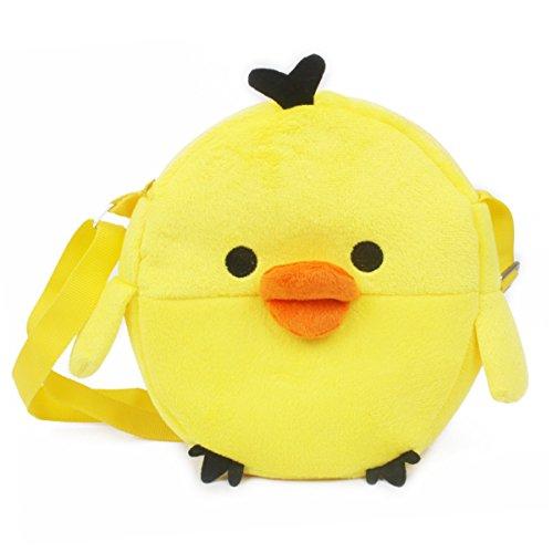 LUXIAO neue kinder niedlichen cartoon plüsch umhängetasche mini brieftasche (Gelbes Küken) -