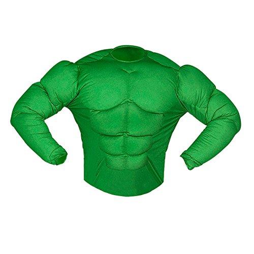 Arme Hulk Kostüm (Widmann 12624 Kinderkostüm grünes Muskelshirt,)