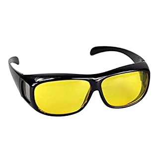 ASVP Shop® Wrap Fit Over Glasses for Night Vision, Ideal Anti Glare Glasses for fishing, cycling and driving