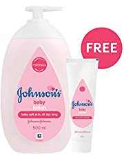 Johnson's Baby Lotion, 500ml with Free Baby Cream, 50g