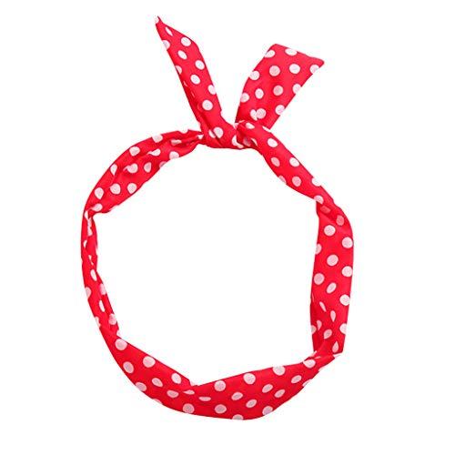 Knowin Paisley Rockabilly Wired Stirnband Polka Dot Tartan Retro Schal Draht Haarband Prinzessin Stirnbänder Knoten Verdrehtes Breites Dehnbares Stirnbänder - Tartan-ski