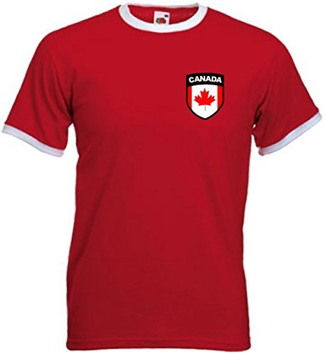 Canada Canadian Retro Football National Sports Team T-Shirt - All Sizes  Large