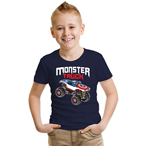 Kinder T-Shirt Monster Truck 2019 Größe 76-164 (Monster-lkw-shirt 6)