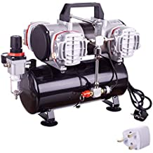 Compresor de aire de pistón de cuatro cilindros de alto rendimiento con tanque y filtro de