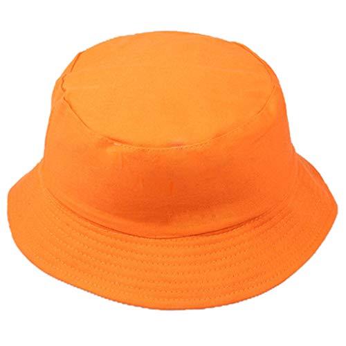 Bokeley Fashion Unisex Packable Reversible Fisherman Hat Cap Bucket Sun Hat Hat Hat Hat Hat Hat Hat Sommer Cap Hut, Wandern, Strand, Sport Free Orange