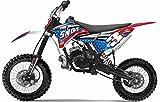 Pitbike Motocicletta da Motocross 50cc NCX Moto Shot XXL 14/12 Blu