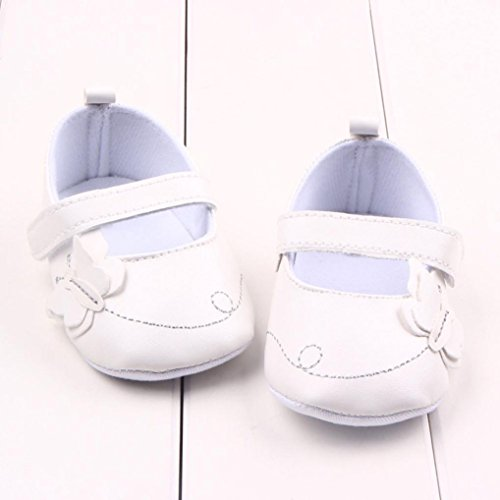 Fulltime® Toddler Infant souple PU cuir Sole Crib Shoes Chaussures Blanc