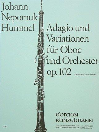 ADAGIO THEMA CON VARIAZIONI OP 102 - arrangiert für Oboe - Klavier [Noten / Sheetmusic] Komponist: HUMMEL JOHANN NEPOMUK