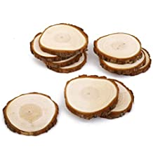 Pixnor Rodajas de madera 8-9CM madera discos para bricolaje manualidades boda 10pcs